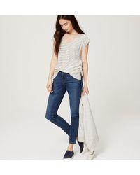LOFT - Blue Petite Modern High Waist Skinny Ankle Jeans In Mid Vintage Wash - Lyst