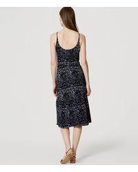 LOFT - Blue Petite Splashy Flounce Dress - Lyst