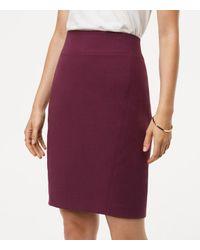 LOFT | Purple Curvy Seamed Scuba Pencil Skirt | Lyst