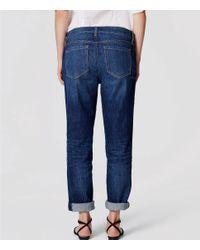 LOFT Blue Tall Boyfriend Jeans In Mid Vintage Wash