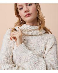 LOFT - Gray Lou & Grey Rainbow Chip Sweater - Lyst