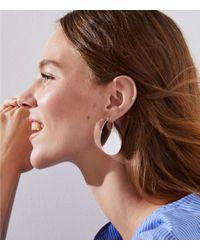 LOFT - Multicolor Wave Hoop Earrings - Lyst