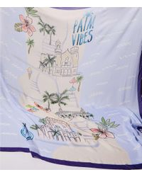 LOFT - Blue Palm Vibes Scarf - Lyst