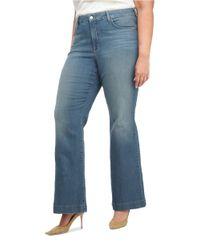 NYDJ - Blue Plus Faded Flared Jeans - Lyst