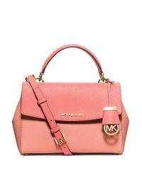 MICHAEL Michael Kors   Pink Ava Small Leather Satchel   Lyst