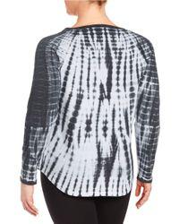 Marc New York - Black Tie-dye Active Top - Lyst