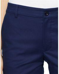 Lauren by Ralph Lauren | Blue Stretch-cotton Bermuda Shorts | Lyst