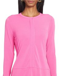 Lauren by Ralph Lauren - Purple Elongated Jersey Top - Lyst