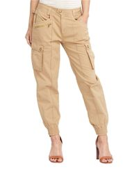 Lauren by Ralph Lauren - Multicolor Cotton Chino Cargo Pants - Lyst