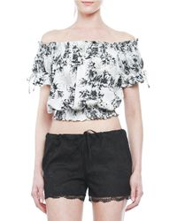 Walter Baker - Gray Kiana Off-the-shoulder Printed Top - Lyst