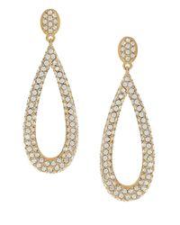 Nadri | Metallic Pave Teardrop Earrings | Lyst