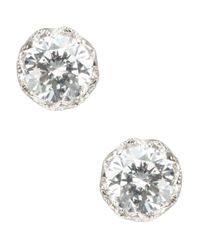 Nadri | Metallic Cubic Zirconia Studs Earrings | Lyst