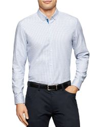 Calvin Klein | White Long Sleeved Button Down Shirt for Men | Lyst