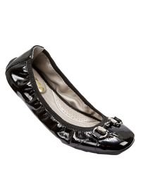 Me Too | Black Legend Leather Flats | Lyst