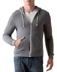 Alternative Apparel | Gray Rocky Zip Hoodie for Men | Lyst