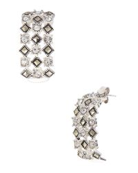 Lord & Taylor | Metallic Sterling Silver And Marcasite Glitz Drop Earrings | Lyst
