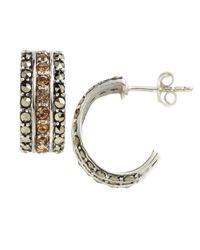 Lord & Taylor | Metallic Embellished Cuff Hoop Earrings | Lyst