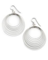 Lord & Taylor - Metallic Sterling Silver Orbital Wire Earrings - Lyst