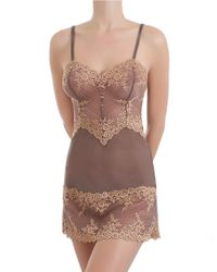 Wacoal - Brown Embrace Lace Chemise - Lyst