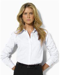 Lauren by Ralph Lauren | White Aaron Long-sleeved Classic Non-iron Shirt | Lyst