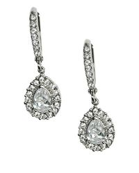 Givenchy | Metallic Silvertone Crystal Drop Earrings | Lyst