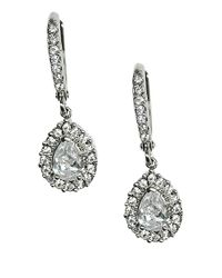 Givenchy | Metallic Silvertone Crystal Drop Earrings | Lyst
