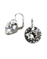 Swarovski | Metallic Bezel-set Crystal Drop Earrings | Lyst