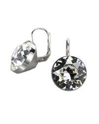 Swarovski - Metallic Bezel-set Crystal Drop Earrings - Lyst