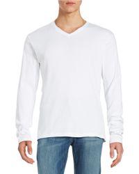 Calvin Klein | White Ribbed Cotton V-neck Shirt for Men | Lyst