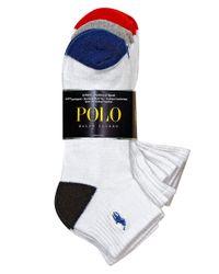 Polo Ralph Lauren | White Heel Toe Arch Support Quarter Socks Set for Men | Lyst
