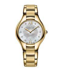 Raymond Weil | Metallic Ladies Noemia Goldtone Watch With Diamonds | Lyst