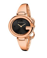 Gucci Metallic Ssima Rose Goldtone Watch 36mm