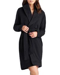 UGG | Black Shawl Collar Robe | Lyst