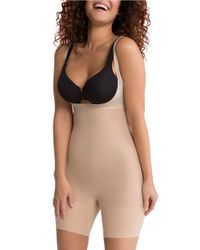 Spanx | Natural Shape My Day Open-bust Mid-thigh Plus-size Bodysuit | Lyst
