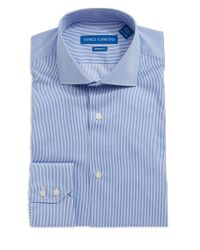 Vince Camuto - Blue Modern Fit Striped Dress Shirt for Men - Lyst