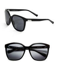 Calvin Klein   Black Logo-plated, 63mm, Square Sunglasses   Lyst
