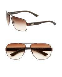Armani Exchange   Brown 63.5mm Modern Aviator Sunglasses for Men   Lyst