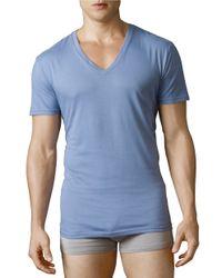Polo Ralph Lauren   Blue V-neck T-shirt Three-pack for Men   Lyst