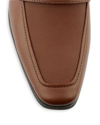 Calvin Klein | Brown Bartley Leather Loafers for Men | Lyst