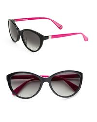 Diane von Furstenberg | Black Blair 56mm Cat Eye Sunglasses | Lyst
