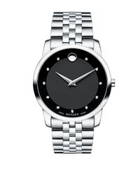 Movado | Metallic Museum Classic Stainless Steel Diamond Bracelet Watch for Men | Lyst