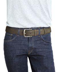 John Varvatos | Gray Burnished Leather Belt for Men | Lyst