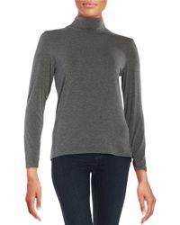 Calvin Klein | Gray Asymmetric Hem Top | Lyst