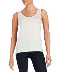 Calvin Klein - White Roundneck Knit Tank - Lyst