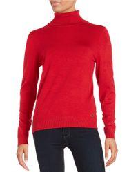Calvin Klein | Black Knit Turtleneck Sweater | Lyst
