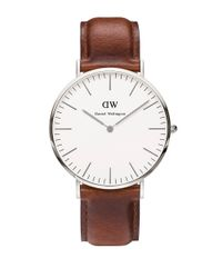 Daniel Wellington | Brown Classic St Mawes Stainless Steel And Leather Strap Watch, 40mm for Men | Lyst