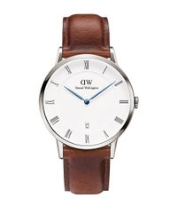 Daniel Wellington | Brown Dapper St Mawes Stainless Steel And Leather Strap Watch, 38mm | Lyst