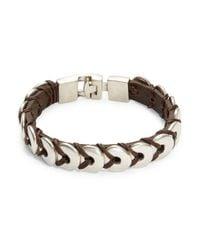 Uno De 50 - Brown Donut Leather Bracelet - Lyst