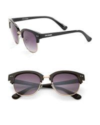 Steve Madden | Black 50mm Wayfarer Sunglasses | Lyst