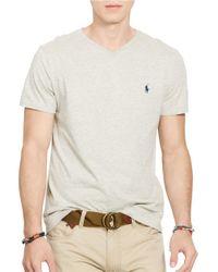 Polo Ralph Lauren   Gray Jersey V-neck T-shirt for Men   Lyst